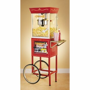 Old Fashioned Movie Time Popcorn Concession Cart
