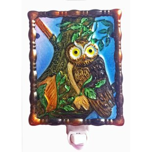 Continental Art Center Owl Night Light