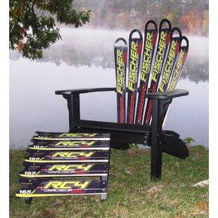 Snow Fischer Ski Plastic Adirondack Chair and Ottoman