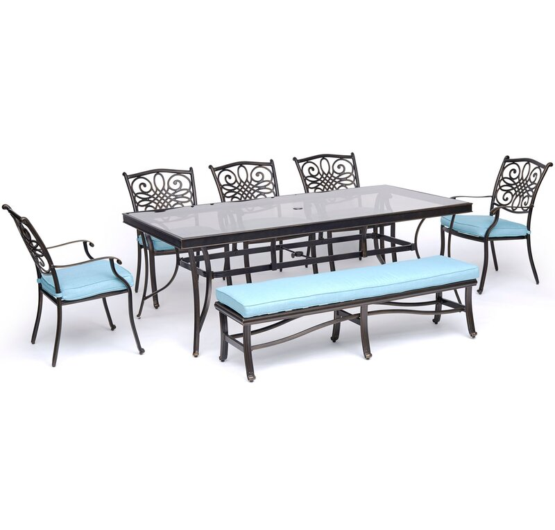 Fleur De Lis Living Carleton 7 Piece Dining Set With Cushions Wayfair