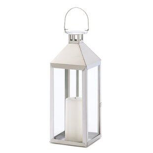 Zingz & Thingz Soho Stainless Steel and Glass Lantern
