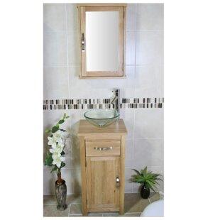 Cox Compact Solid Oak 400mm Free-Standing Vanity Unit By Belfry Bathroom