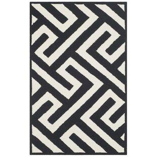 Enno Ivory/Black Indoor/Outdoor Area Rug ByWilla Arlo Interiors