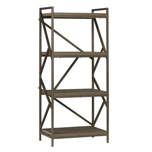 derwood metal distressed etagere bookcase