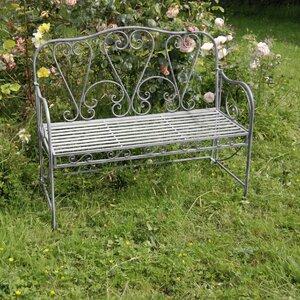 2-Sitzer Gartenbank aus Metall von Prestington