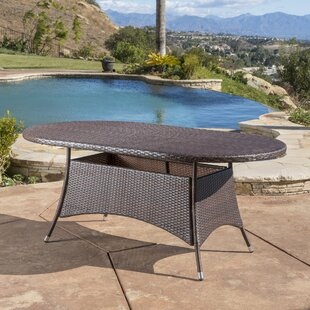 Bleich Outdoor Wicker Dining Table
