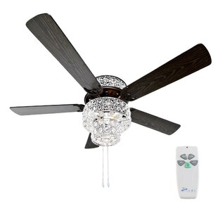 52 inch  Tibuh Punched Metal Crystal 5 Blade Ceiling Fan with Remote