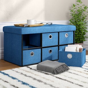 Faux Leather Storage Bench by Rebrilliant