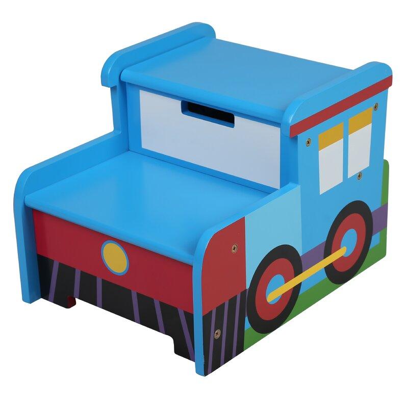 Olive Kids Train Step U0027n Store Step Stool With Storage