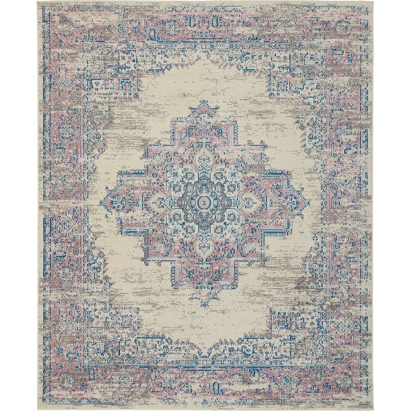 World Menagerie Heckman Ivory Pink Blue Rug Reviews Wayfair Co Uk