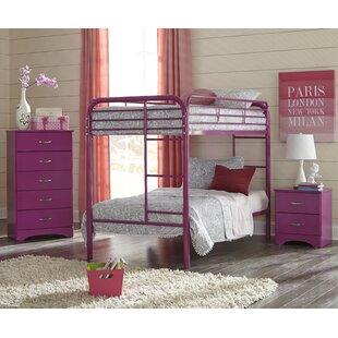 Hugh Twin over Twin Standard Bunk 3 Piece Bedroom Set by Harriet Bee