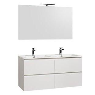 Durain 1200 Mm Wall Hung Double Vanity Unit By Belfry Bathroom