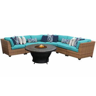 Waterbury 6 Piece Sectional Seating Group With Cushions by Sol 72 Outdoor Best