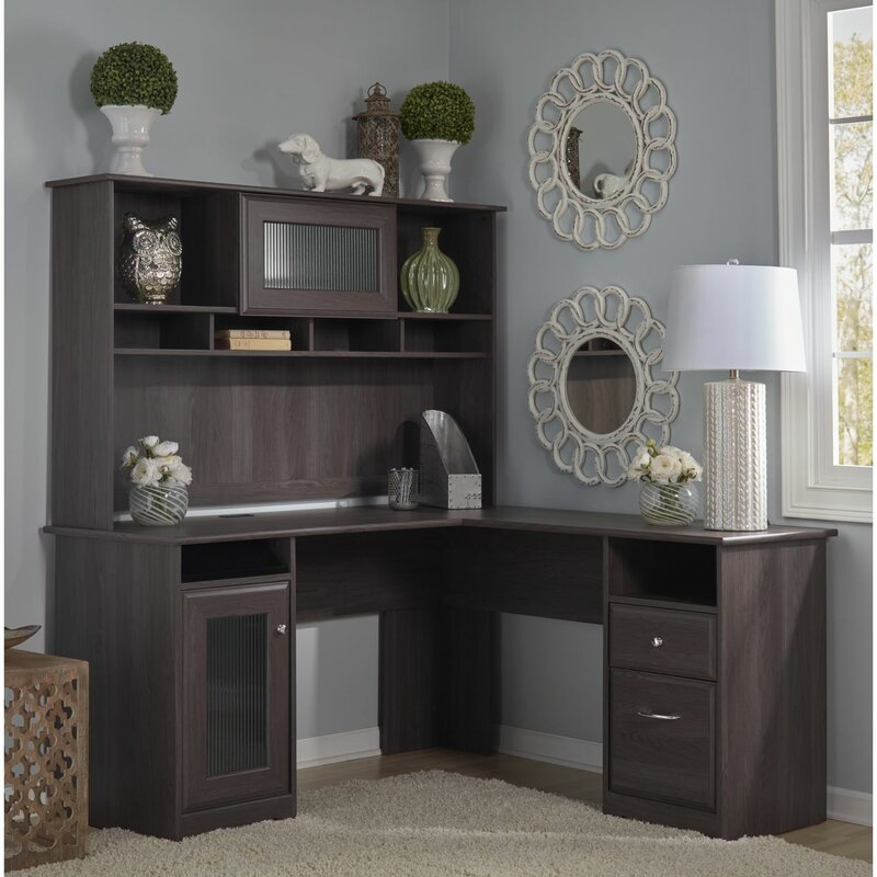 hillsdale lshape desk with hutch