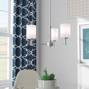 Zipcode Design Knouse 3-Light Shaded Chandelier