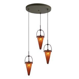 Kenda 3-Light Cascade Pendant by Woodbridge Lighting