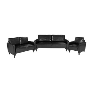Quenby Upholstered 3 Piece Living Room Set by Latitude Run
