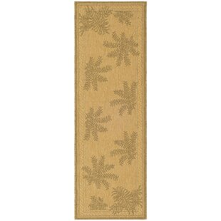 Amaryllis Natural/Gold Indoor/Outdoor Area Rug