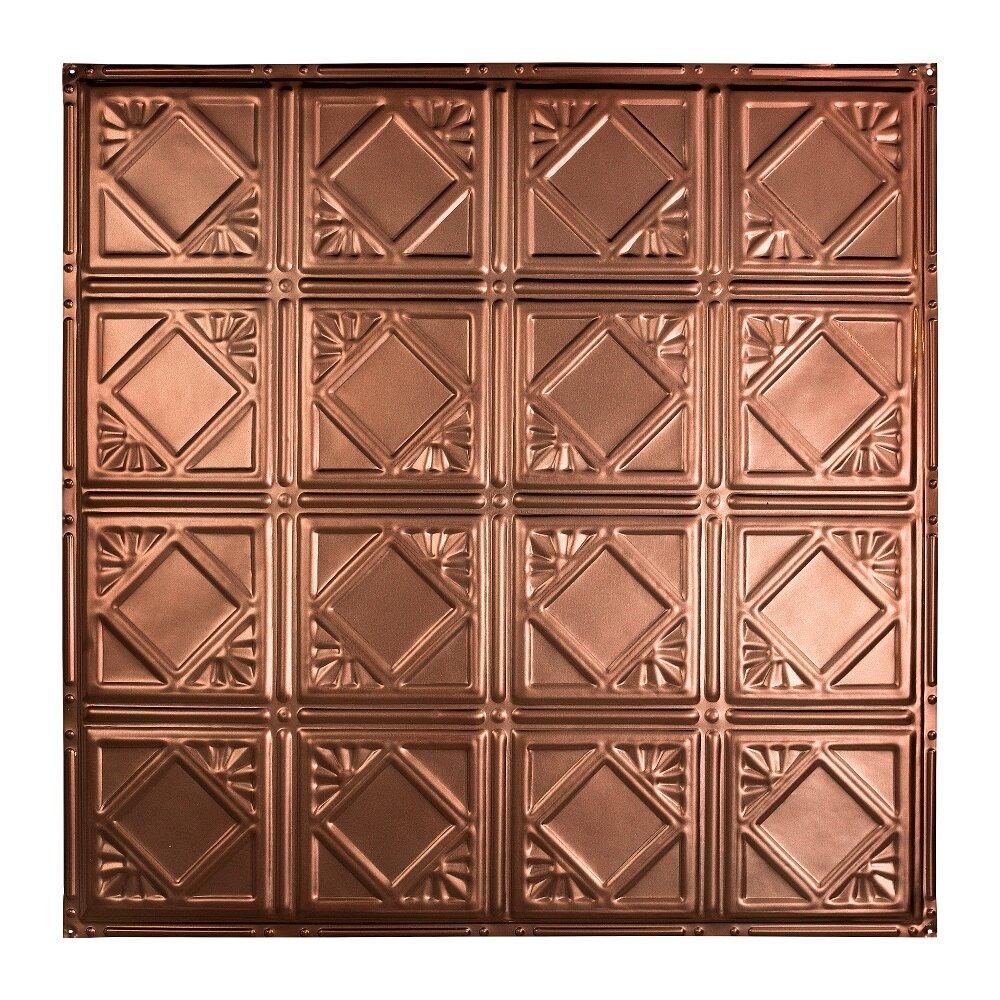 Greatlakestin Ludington 2 Ft X 2 Ft Nail Up Ceiling Tile In Vintage Bronze Wayfair