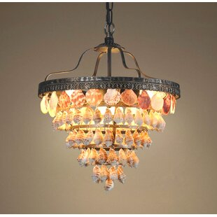 Compare prices Capiz 5 Tiers Seashell 3-Light LED Bowl Pendant By Westmen Lights