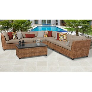 Medina 8 Piece Outdoor Sectional Seating Group with Cushions
