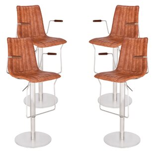 Denholme Adjustable Height Swivel Bar Stool (Set of 4) by Brayden Studio