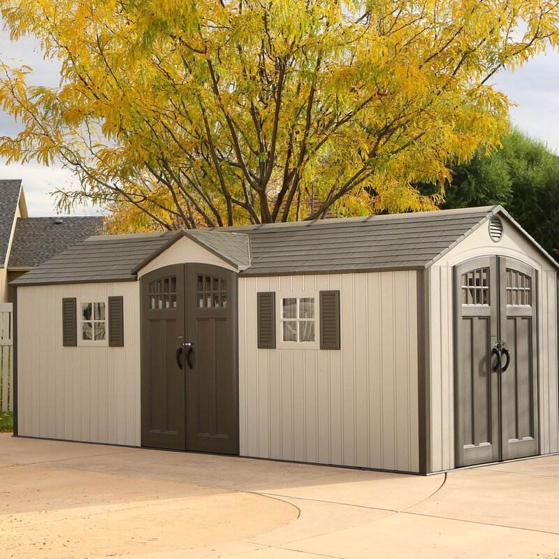 Lifetime 20 Ft W X 8 Ft D Plastic Storage Shed Amp Reviews