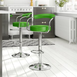 Shatley Height Adjustable Bar Stool By 17 Stories