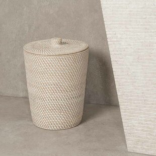Wicker Laundry Bin By Beachcrest Home
