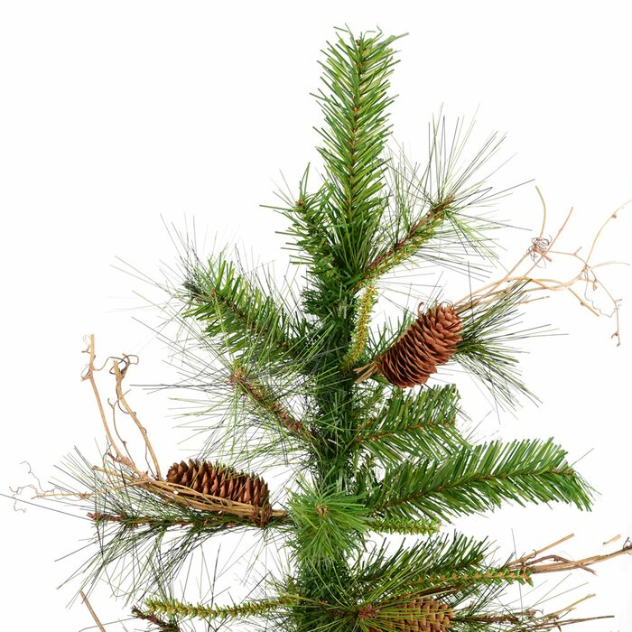Ashland Christmas Trees.Ashland Wood Trunk Tree With Tips An 6 Green Fir Artificial Christmas Tree With Unlit With Stand