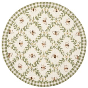 Littell Hand-Hooked Wool Green Area Rug by August Grove