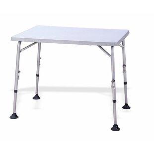 Horta Folding Aluminium Dining Table By Symple Stuff