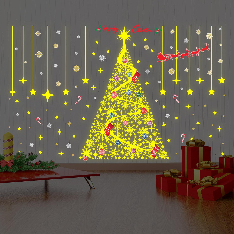 The Holiday Aisle Magical Christmas Glow Wall Decal | Wayfair