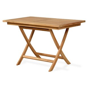 Raleigh Folding Teak Dining Table By Bay Isle Home