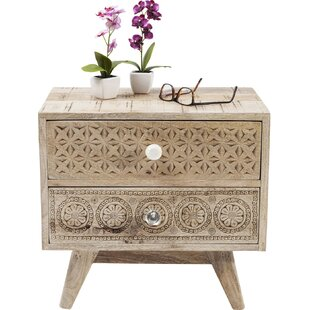 Great Price Abigail Bedside 2 Drawer Nightstand by Mistana
