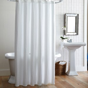 Cotton Waffle Cotton Shower Curtain