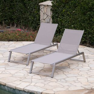 Orren Ellis Ipock Reclining Chaise Lounge (Set of 2)