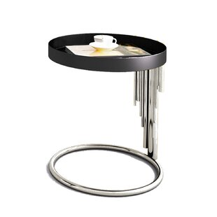 Flaherty Stainless Steel End Table by Everly Quinn Best #1