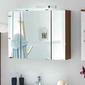 90cm X 68cm Surface Mount Mirror Cabinet With Lighting By Belfry Bathroom