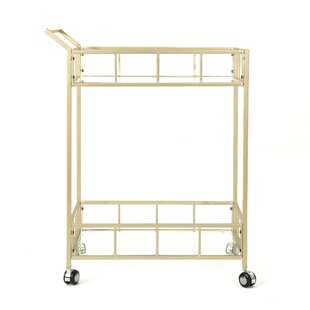 Eaker Outdoor Modern Bar Serving Cart