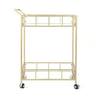 Eaker Outdoor Modern Bar Serving Cart