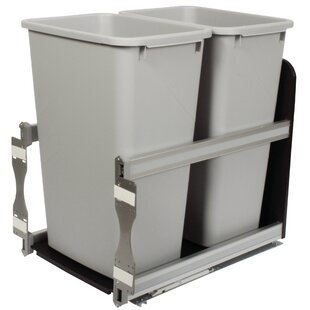 Knape&Vogt Double Pull-Out 12.5 Gallon Trash Can