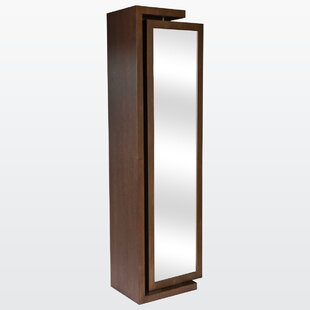 Her Free Standing Jewelry Armoire with Mirror By REZ Furniture