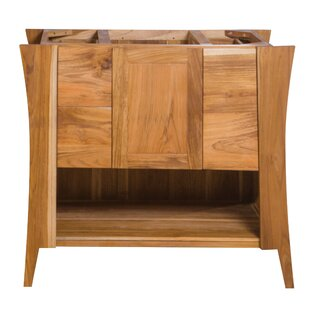 Curvature Solid Teak 36 Single Bathroom Vanity Base by EcoDecors