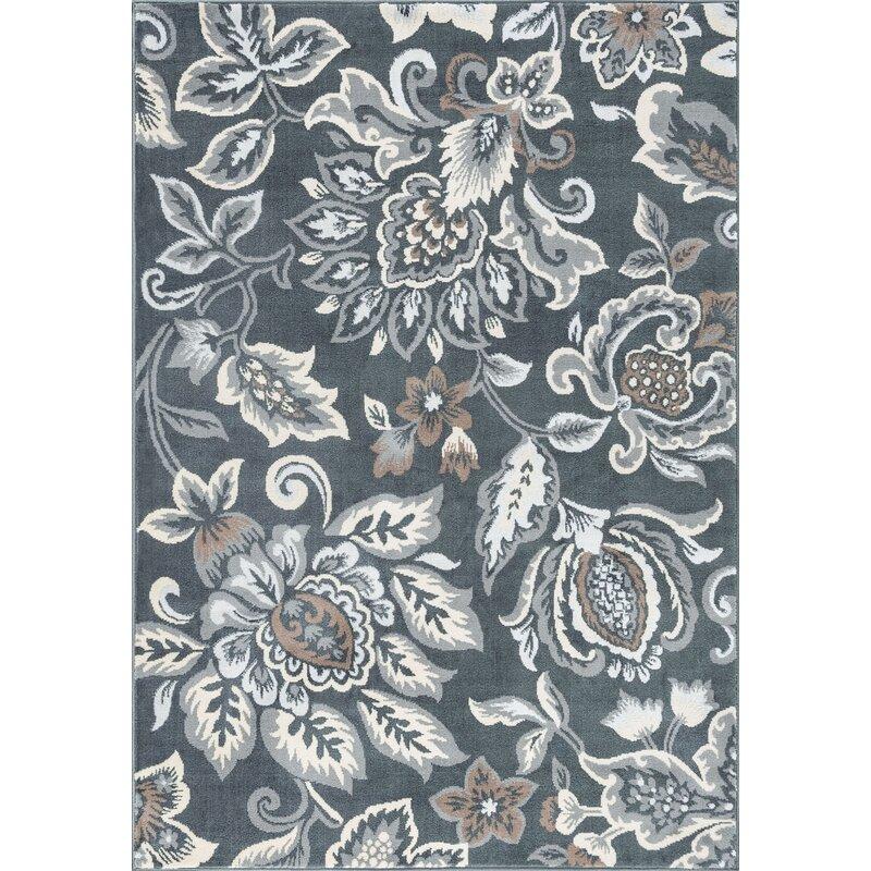 Canora Grey Almus Power Loom Dark Gray Rug Reviews Wayfair