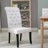 Applin Tufted Upholstered Dining Chair in Beige (Set of 4) by Red Barrel Studio®