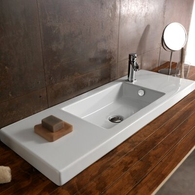 serie 35 ceramic self rimming bathroom sink