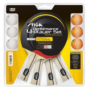 Performance 4 Player Complete Game Set by Stiga