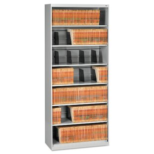 Open Fixed 7-Shelf Vertical Filing Cabinet
