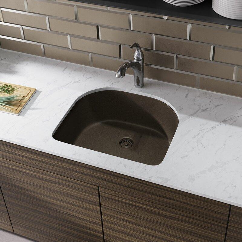 granite composite 25   x 22   undermount kitchen sink with hardware ren  byelkay granite composite 25   x 22   undermount kitchen sink      rh   wayfair com